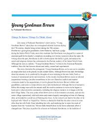 Analytical essay young goodman brown