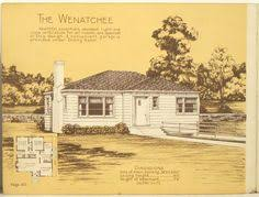 S Style Home Plans       s house plan floor plan in next    A rectangular booklet featuring homes illustrated   line drawings and floor plans  Description from oldimprints com  I searched for this on bing com