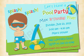 printable birthday invitations for boys invitations printable pool party birthday invitations for boys