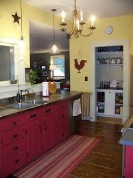Vintage Farmhouse Kitchen Decor Breathtaking Black Tile Countertop Added Double Undermount Sink