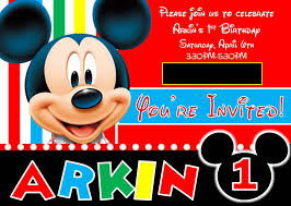 designs mickey mouse first birthday invitations mickey mouse first birthday invitations
