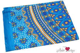 <b>Покрывало</b> cherette цвет: голубой (200х140 см) <b>ethnic</b> chic из ...