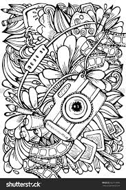 Small Picture Vector hand drawn pattern Anti stress coloring book page for