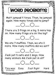 Sentences for words, Word problems and Sentence for on PinterestFirst Grade Math Unit 3 Addition to 10. Writing addition number sentences for word problems ...