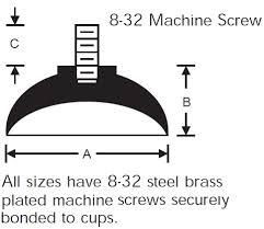Machine Screw Type <b>Suction Cups</b>   RPM Rubber <b>Parts</b>