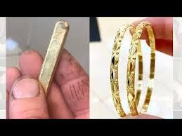 Making 22k <b>Gold</b> Bangles <b>New Design</b>   <b>Gold</b> Jewelry Making   4K ...