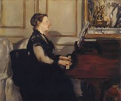 Madame Manet au piano