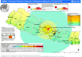 how to help the victims of s earthquake disaster newshour a map shows the estimated population of still exposed to aftershocks following the 25