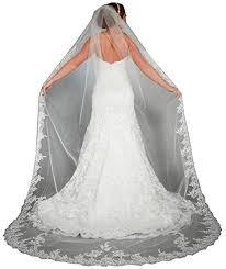 <b>Doragrace</b> Lace Edge Cathedral Length Long Bridal Wedding Bridal ...
