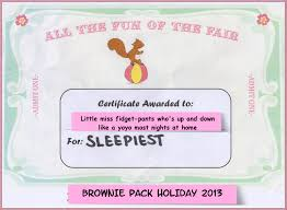 wot so funee brownie pack holiday actually mummy certificate