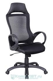 Купить Офисное <b>кресло TetChair Mesh-3 ткань/кож/зам</b>, черный в ...