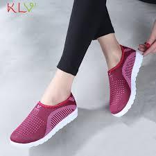 Couple <b>Vulcanized Shoes</b> Autumn Mesh <b>Flat</b> Loafers Plus Size ...