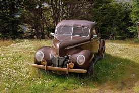 <b>vintage brown</b> coupe on green grass by Paolo Grassi. Photo stock ...