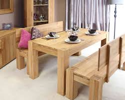 oak dining table chunky solid wood