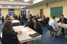 students prep for future mock interviews tbr news media northport high school students practice their interview