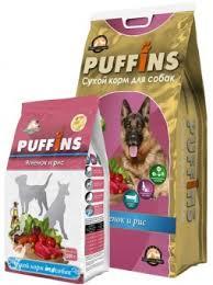 <b>Puffins</b> корм для <b>собак</b> Ягненок и Рис