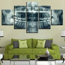Buy 5 pieces abstract <b>skull canvas wall art</b> and get free shipping on ...