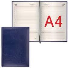 <b>Ежедневник</b> А4 <b>BRAUBERG Imperial</b>, 160л. т.синий (175*247мм ...