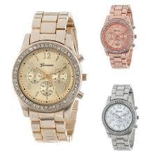 Geneva Classic <b>Luxury Rhinestone</b> Watch <b>Women</b> Watches Fashion ...