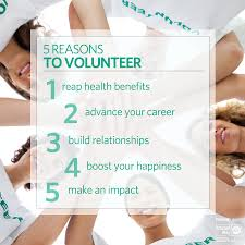reasons to volunteer friday five 5 reasons to volunteer reap health benefits advance your career