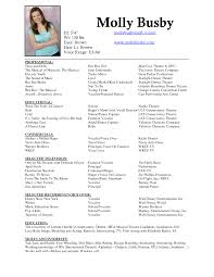 musician resume examples