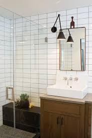 eclectic bathroom subway tile