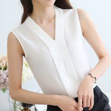 <b>2019 Summer</b> Korean <b>New</b> Style Sleeveless <b>V</b>-<b>neck</b> Solid Color ...