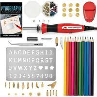 <b>28pcs</b> 220V <b>60W Wood Burning</b> Pen Soldering Tool Craft Set ...