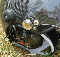 Real carbon material <b>Paramotor</b> helmet with <b>noise cancel</b> headset ...