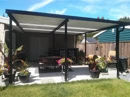 aluminium patio cover surrey: maple ridge aluminium patio cover double i beam