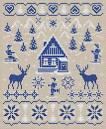 Зимние мотивы вышивка схемы