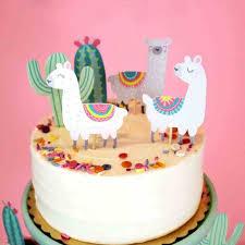 Omilut 5pcs Alpaca Cactus Cake Topper LLama Party <b>Decorations</b> ...