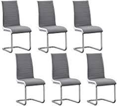 6 Grey Dining Chairs - Amazon.co.uk