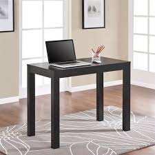 altra furniture parsons home office desk with drawer in black oak atlas oak hidden home