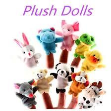<b>5PCS Animal Finger Puppet</b> Plush Toys Kids Toys Cute Cartoon ...