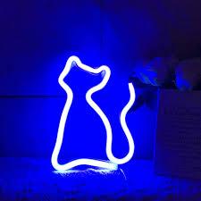 QiaoFei Cute <b>Neon Light</b>,<b>LED</b> Neon Cat Sign Shaped Decor <b>Light</b> ...