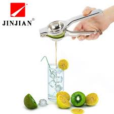 JINJIAN <b>Stainless Steel</b> Press <b>Lemon</b> Lime Orange Juicer <b>Citrus</b> ...