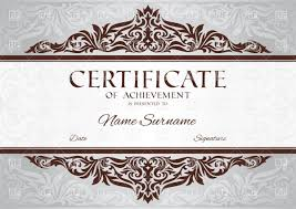 gift certificate frame clipart clipart kid certificate of achievement template floral vintage frame 37348