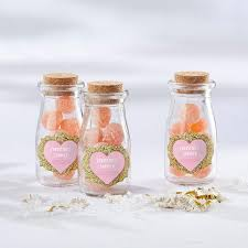 Personalized <b>Sweet Heart Vintage</b> Milk Bottle Favor Jar | Corner ...