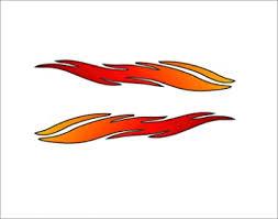 SIGNOOGLE Orange <b>Flame</b> Graphics <b>3D</b> Sticker for Bike Tank <b>Car</b> ...