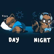 Sleep All <b>Day</b>, Game All <b>Night</b> | Funny, <b>cute</b> & nerdy shirts - TeeTurtle