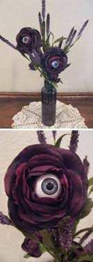 ideas outdoor halloween pinterest decorations: eyeball flower  last minute cheap diy halloween decorations you can easily make