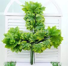 48pcs <b>Artificial Plant Maple Tree</b> Branch Stem Simulation Maple ...