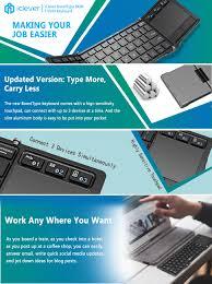 iClever BoostType BK08 <b>Portable</b> Tri-<b>folding Bluetooth Keyboard</b> ...
