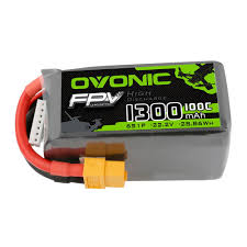 <b>OVONIC</b> 1300mAh 6S <b>22.2V 100C</b> LiPo Battery with XT60 for FPV ...