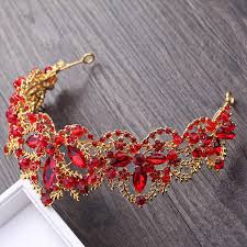 new baroque luxury crystal hairband vintage women retro water drill headdress pearl colorful hair jewelry