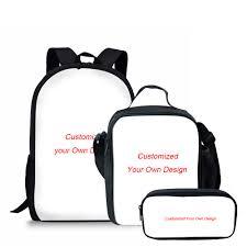 <b>THIKIN 3Pcs/Set</b> Children School Bags for Boys Customized ...