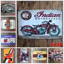 <b>1 Pcs Vintage Decorative</b> Plate Motorcycle Tin Signs Bar Pub ...