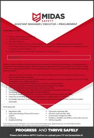 assistant manager executive procurement midas safety job image
