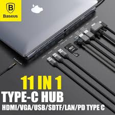<b>BASEUS 11 in 1</b> Type C USB-C USB 3.0 <b>Hub</b> Adapter With PD ...